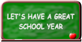 Chalkboard with message: Let's Have a great school year